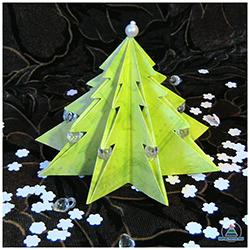 Новогоднее оригами: нарядная ёлочка своими руками