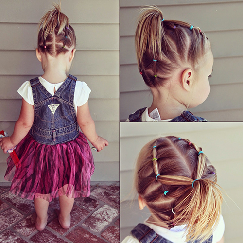 Детские причёски для девочек в садик фото